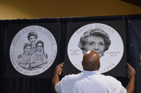 Nancy Reagan coin design