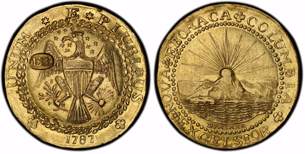 1787 gold Brasher Doubloon