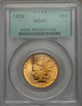 1933 Eagle PCGS MS65 obverse