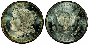 1900-S Morgan dollar graded PCGS MS67PL