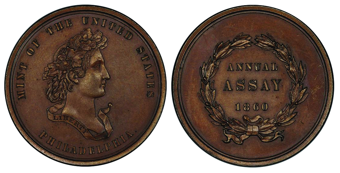 1860 Assay medal
