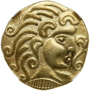 Gold Stater struck by the Parisii obverse