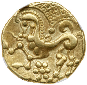 Gold Stater struck by the Parisii reverse
